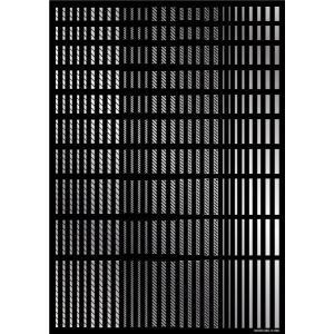 ハイキューパーツ ラインデカール2 シルバー(1枚入)(LINED02-SIL) 返品種別B