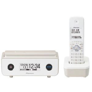 パイオニア デジタルコードレス留守番電話機(子機1台)マロン Pioneer TF-FD35シリーズ TF-FD35W(TY) 返品種別A|joshin