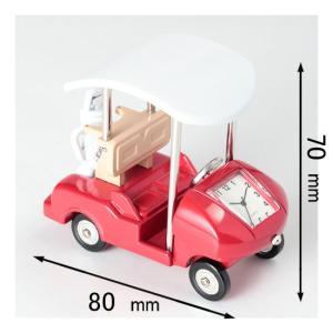 ミニチュアクロック Miniature Clock Collectionゴルフカート レッド C30...