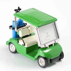 ミニチュアクロック Miniature Clock Collectionゴルフカート グリーン C3...