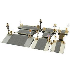 さんけい 1/ 220 踏切セット みにちゅあーとプチ Zスケール(MP01-108)組立キット 返品種別B|joshin