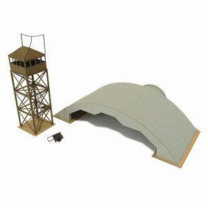さんけい 1/ 144 航空情景シリーズ 戦時航空基地掩体壕(MK08-10)組立キット 返品種別B|joshin