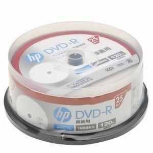ヒューレット・パッカード 16倍速対応DVD-R 25枚パック 120分 ホワイトワイドプリンタブル DR120CHPW25PA 返品種別A