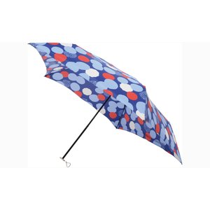 mabu 5本骨 軽量折りたたみ傘(デザイン)ブルーミングドット ネイビー 直径89cm 紫外線カット 晴雨兼用傘 日傘 MBU-LMDPT03 返品種別A|Joshin web