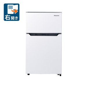 (標準設置 送料無料)ハイセンス 93L 2ドア冷蔵庫(直冷式)ホワイト(右開き) Hisense HR-B95A 一人暮らし 返品種別A|joshin