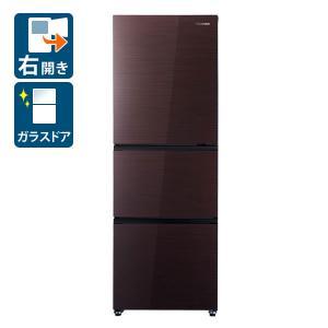 (標準設置 送料無料) ハイセンス 282L 3ドア冷蔵庫(ダークブラウン)(右開き) Hisense HR-G2801BR 返品種別A|joshin