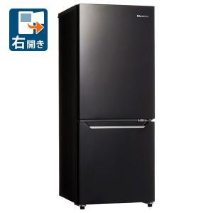 (標準設置 送料無料)ハイセンス 150L 2ドア冷蔵庫(パールブラック)(右開き) Hisense HR-D15CB 一人暮らし 返品種別A|joshin