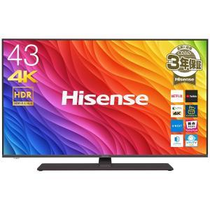 (標準設置 送料無料 Aエリアのみ) ハイセンス 43V型地上・BS・110度CSデジタル4Kチューナー内蔵 LED液晶テレビ (別売USB HDD録画対応) 43A6800 返品種別A|joshin