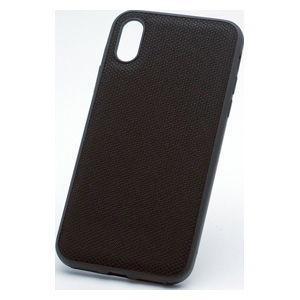ディーフ iPhone XR用 ハイブリッドケース エタンゼ ナイロンジャケットタイプ(ナイロンブラ...