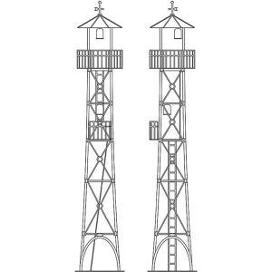 ワールド工芸 (HOナロー) 1/ 87 火の見やぐら タイプB (4本足タイプ) 組立キット 返品種別B|joshin