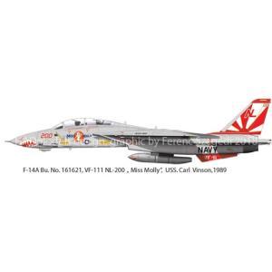 """HADモデル (再生産)1/ 48 F-14A VF-111 「サンダウナーズ」""""ミス モーリー""""(..."""