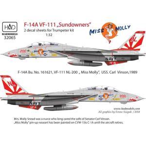 """HADモデル 1/ 32 F-14A VF-111 「サンダウナーズ」""""ミス モーリー"""" (トランぺ..."""