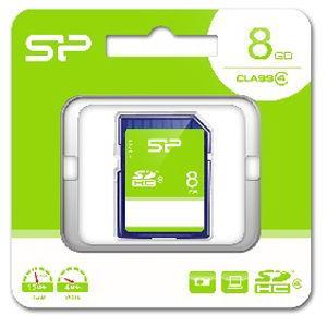 シリコンパワー SDHCメモリカード 8GB Class4 SP-SDHC8GB4 返品種別A|joshin