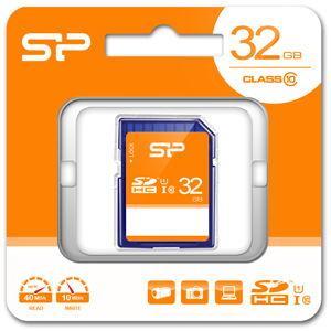 シリコンパワー SDHCメモリカード 32GB Class10 UHS-I SP-SDHC32GB10 返品種別A|joshin