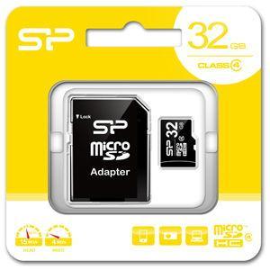 シリコンパワー microSDHCメモリカード 32GB Class4 SP-MCSDHC32GB4 返品種別A