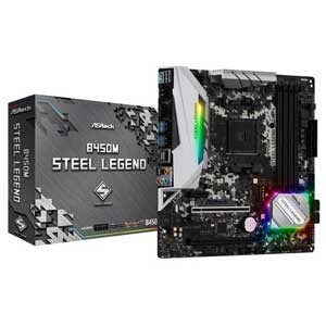 ASRock MicroATX対応マザーボードB450M STEEL LEGEND B450M ST...