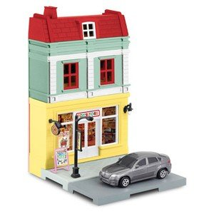 在庫状況:入荷次第出荷/童友社 1/64 ダイキャストミニカー ジオラマストリート おもちゃ屋&BM...