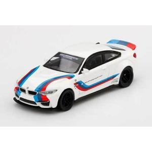 MINI−GT 1/ 64 LB★WORKS BMW M4 ホワイト/ Mストライプ(右ハンドル)(...