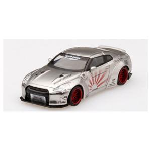 MINI−GT 1/ 64 LB★WORKS Nissan GT-R R35 タイプ1 リアウイング...