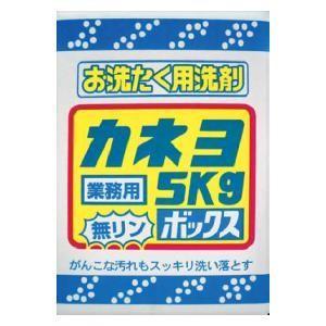 お洗濯洗剤 5kg ボックス カネヨ石鹸 センタクセンザイ5 返品種別A joshin