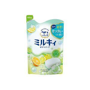 ミルキィボディソープ シトラスソープの香り 詰替用400ml 牛乳石鹸共進社 ミルキイBSシトラスソ-プカエ400M 返品種別A|joshin