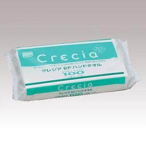 クレシア EFハンドタオル ソフト 100組入 Crecia(クレシア) 37018B(8-1667-01) 返品種別A|joshin