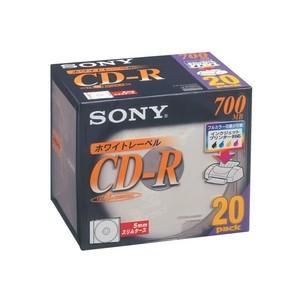 ソニー データ用700MB 48倍速対応CD-R 20枚パック ホワイトプリンタブル 20CDQ80DPW 返品種別A|joshin