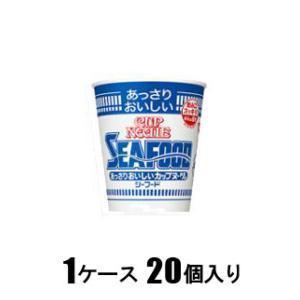 あっさりおいしいカップヌードル シーフード 60g(1ケース20個入) 日清食品 アツサリCNシ-フ-ド60G*20 返品種別B|joshin