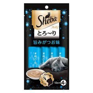 キャットフード(ウェットタイプおやつ)旨みがつお味 12g×4本 マースジャパンリミテッド シーバ とろ〜りメルティ 返品種別B|joshin