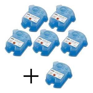 ブラウン アルコール洗浄システム専用洗浄液カートリッジ(5個+1個入) BRAUN クリーン&リニュ...