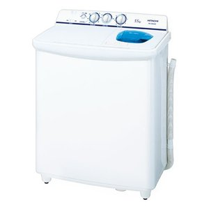 (標準設置 送料無料) 日立 5.5kg 2槽式洗濯機 ホワイト HITACHI 青空 PS-55AS2-W 返品種別A|joshin