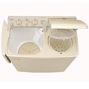 (標準設置 送料無料) 日立 4.5kg 2槽式洗濯機 パインベージュ HITACHI 青空 PS-...