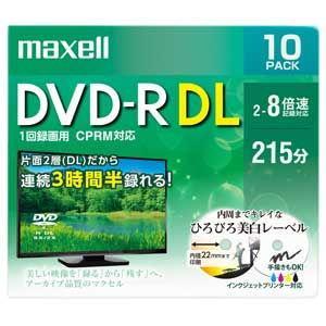 マクセル 8倍速対応DVD-R DL 10枚パック8.5GB ホワイトプリンタブル DRD215WPE.10S 返品種別A