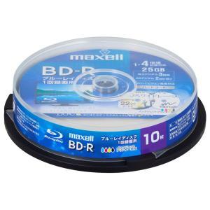 マクセル 4倍速対応BD-R 10枚パック 25GB ホワイトプリンタブル BRV25WPE.10SP 返品種別A