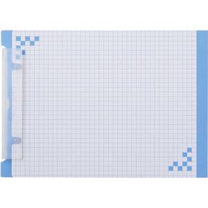 ヒサゴ 折り込み下敷き付 キャリーバインダー A5ヨコ ブルー BH01A5B 返品種別A|joshin