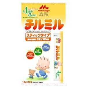 森永フォローアップミルク チルミル スティックタイプ 14g×10本 森永乳業 (12ヶ月頃から)チルミルステイツク14GX10 返品種別B|joshin