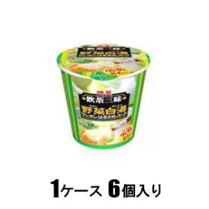 明星 飲茶三昧 野菜白湯 ワンタンはるさめスープ 27g(1ケース6個入) 明星食品 ヤサイパイタンワンタンハルサメ27X6 返品種別B|joshin