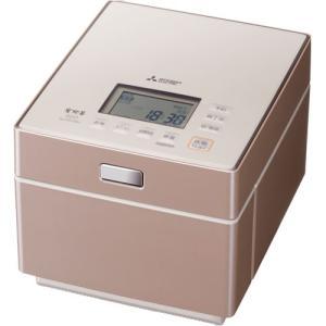三菱 IHジャー炊飯器(5.5合炊き) テンダーロゼ MITSUBISHI 蒸気レスIH NJ-XS108J-P 返品種別A|joshin