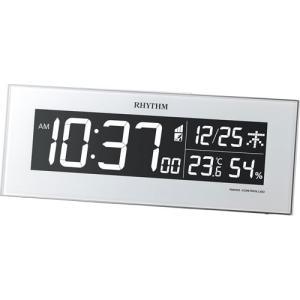 リズム時計 デジタル電波時計Iroria(イロリア) 8RZ173SR03 返品種別A joshin