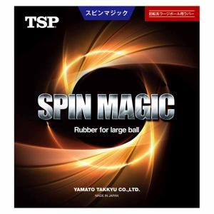 ティーエスピー 卓球ラバー(ラージボール用)(特厚・レッド) TSP スピンマジック TSP-020362-0040-TA 返品種別A|joshin