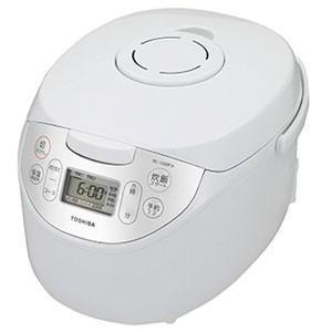 東芝 マイコンジャー炊飯器(5.5合炊き) ホワイト TOSHIBA マイコン保温釜 RC-10MFH-W 返品種別A|joshin