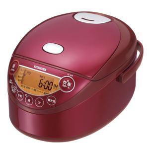 東芝 IHジャー炊飯器(3.5合炊き) グランレッド TOSHIBA 備長炭鍛造かまど釜 RC-6XK-R 返品種別A|joshin