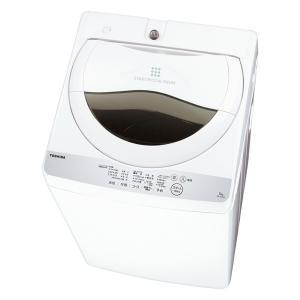 (標準設置 送料無料) 東芝 5.0kg 全自動洗濯機 グランホワイト TOSHIBA AW-5G6-W 返品種別A|joshin