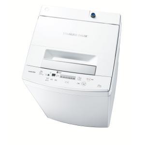 (標準設置 送料無料) 東芝 4.5kg 全自動洗濯機 ピュアホワイト TOSHIBA AW-45M7-W 返品種別A|joshin