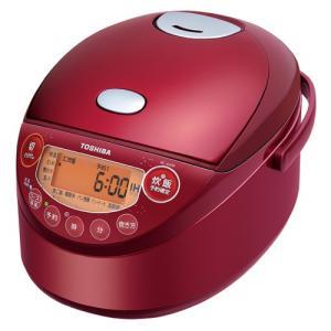 東芝 IHジャー炊飯器(3.5合炊き) グランレッド TOSHIBA 備長炭鍛造かまど釜 RC-6XM-R 返品種別A|joshin
