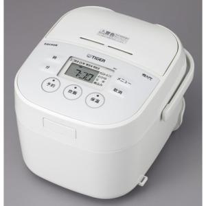 タイガー マイコン炊飯ジャー(3合炊き) ホワイト TIGER 炊きたて 大人のtacook(タクック) JBU-A551W 返品種別A|joshin