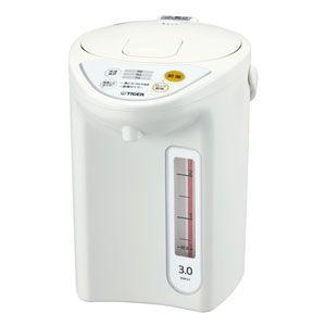 タイガー マイコン電動ポット 3.0L ホワイト TIGER PDR-G301-W 返品種別A|joshin