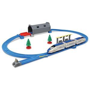 タカラトミー プラレール トンネルを照らそう! ライト付 E7系 新幹線 かがやきベーシックセット ...