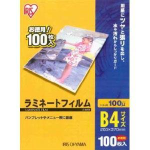 アイリスオーヤマ ラミネートフィルム 100μ B4サイズ 100枚入り LZ-B4100 返品種別A joshin