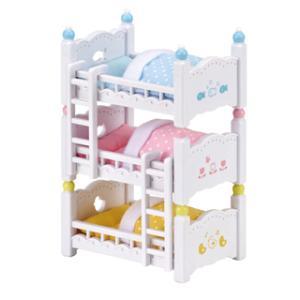 エポック社 シルバニアファミリー 赤ちゃん3段ベッド(カ-213)シルバニアファミリー 返品種別B